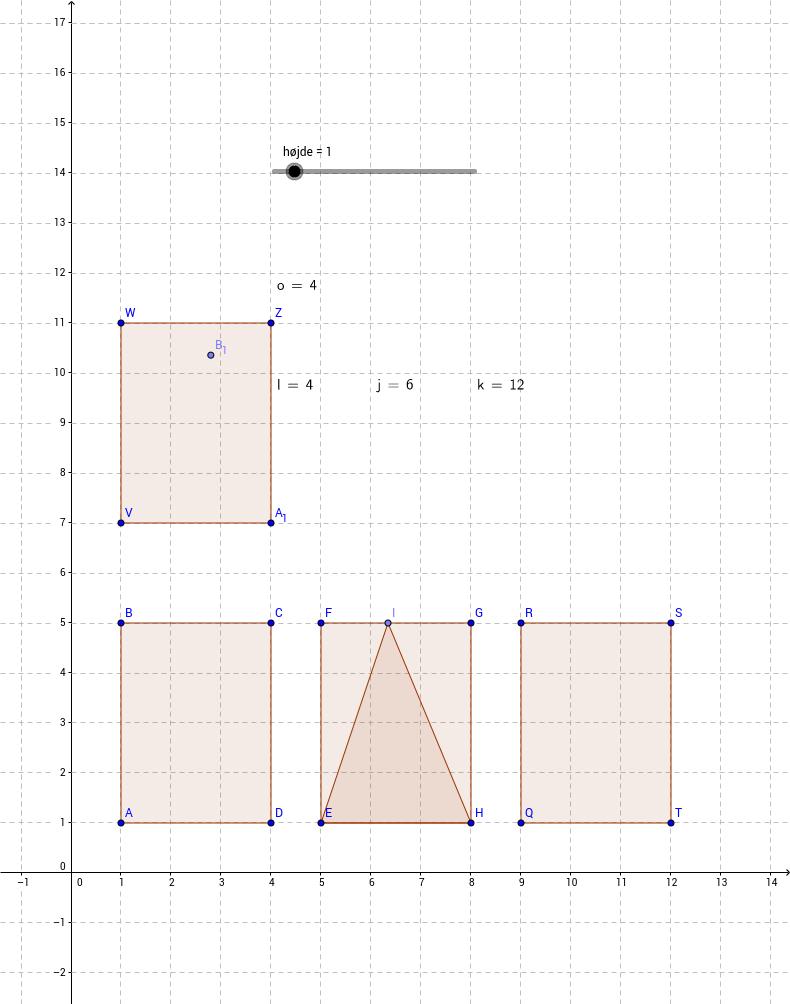Rumfang - kasse, prisme og pyramide