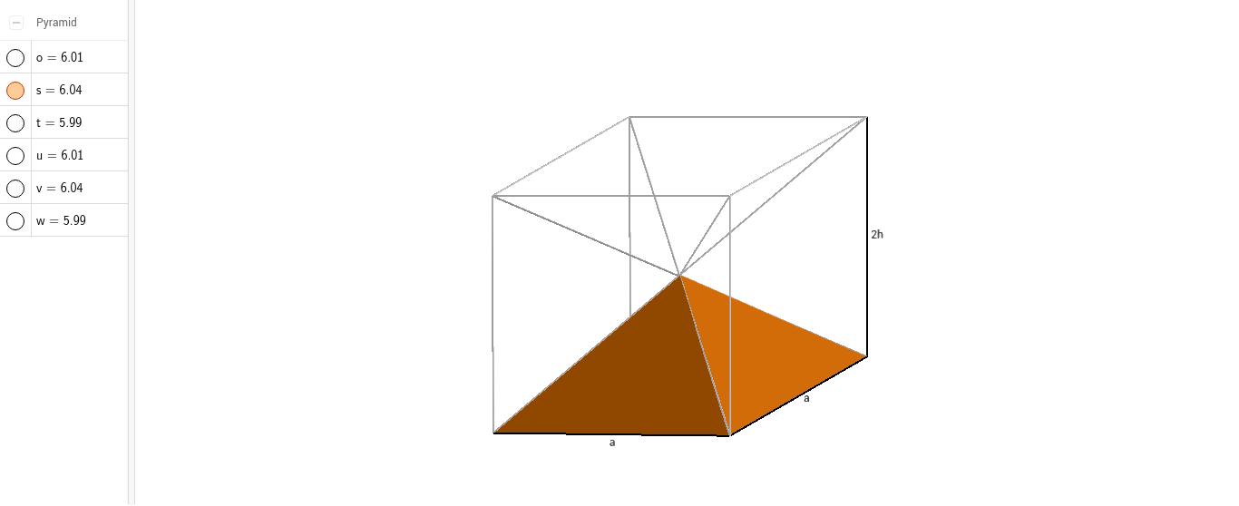 Volumen der Pyramide (Herleitung) – GeoGebra