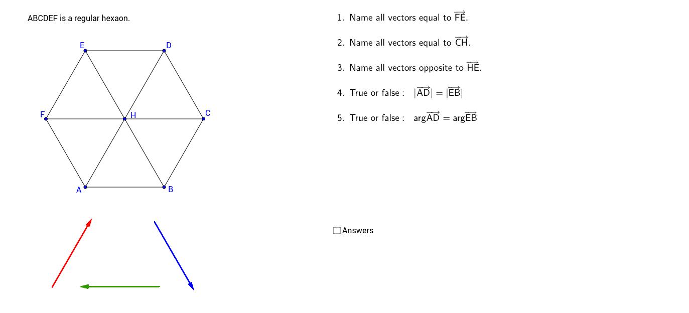 03 Equal Vectors Exercises
