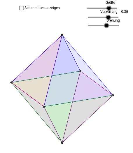 Platonische Körper: der Oktaeder und sein Dualkörper
