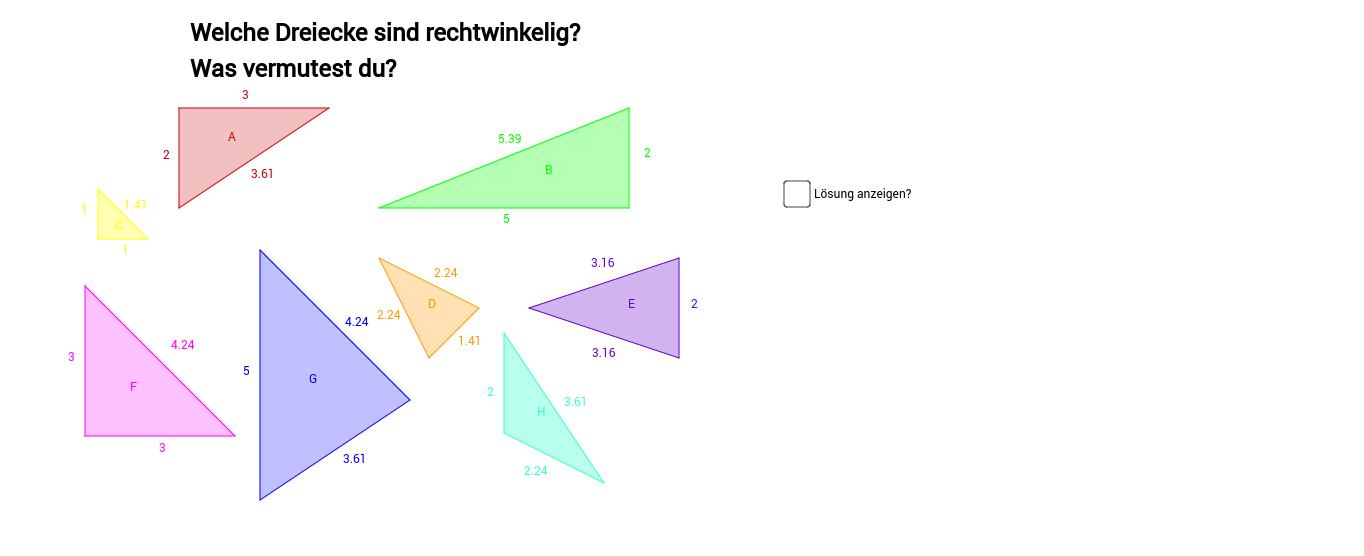 Rechtwinkelige Dreiecke