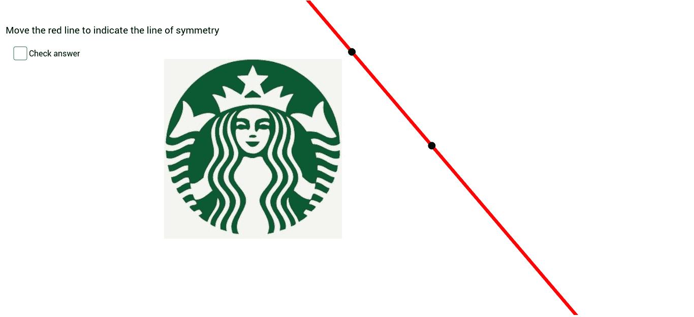 Starbucks Logo Line of Reflection Symmetry - GeoGebra