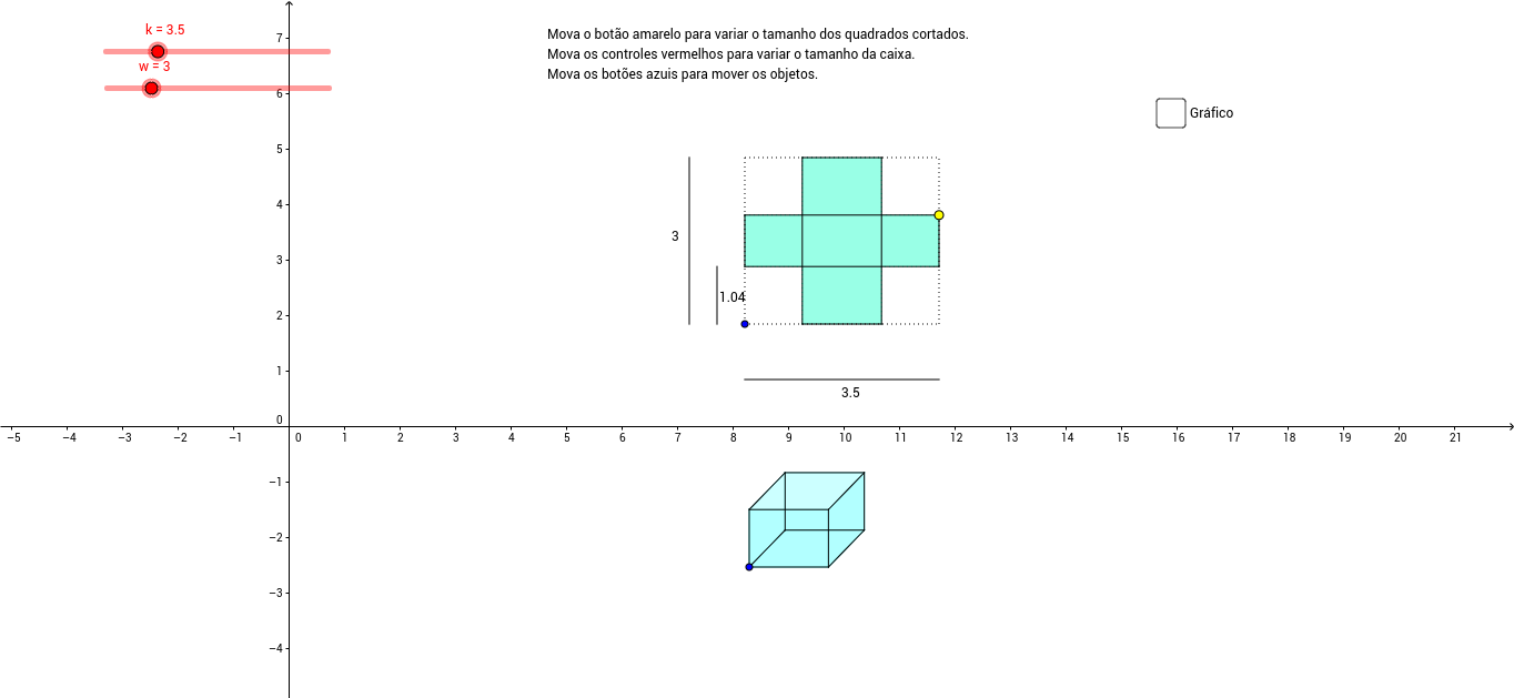 Problema da Caixa - Dimensões Variáveis