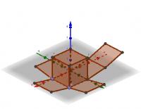 Animação da planificação de um cubo