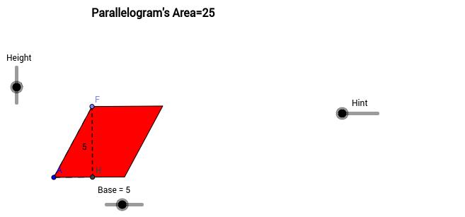 Area of A Parallelogram GeoGebra – Parallelogram Area Worksheet