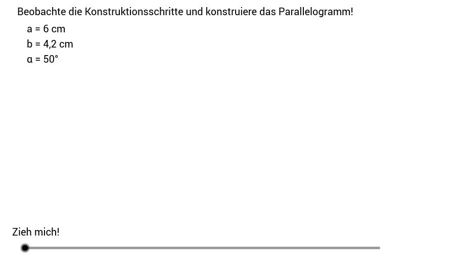 Parallelogramm 1 - Konstruktionsanleitung