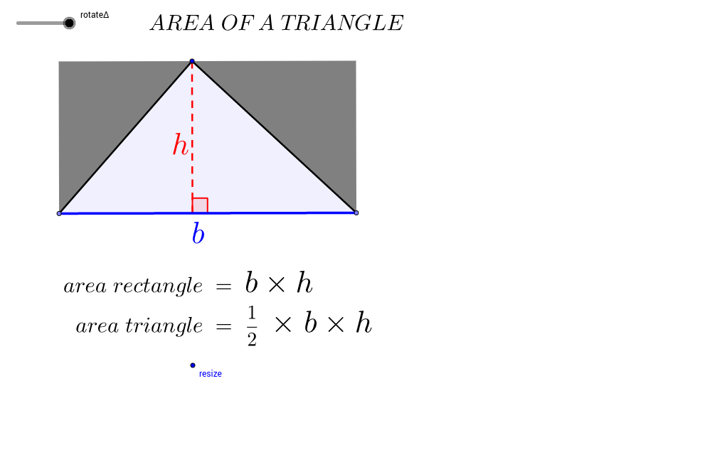 Area of triangle to rectangle