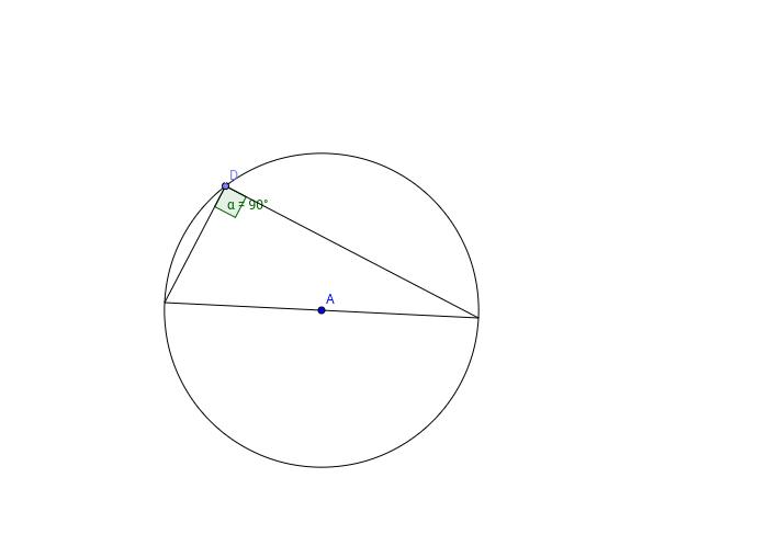 Circle Theorems, Angles in a semi circle