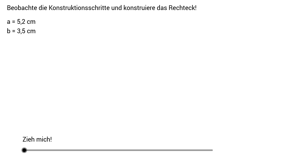 Rechteck - Konstruktionsanleitung