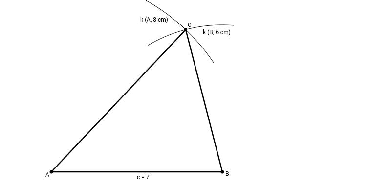 Rýsování trojúhelníku ze tří stran