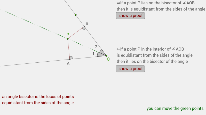 angle bisector as locus