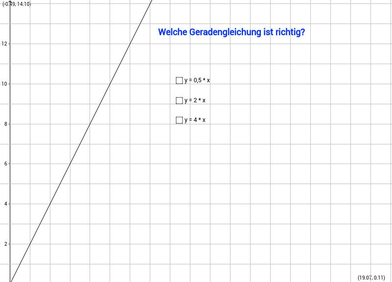 Geradengleichung (Funktionsgleichung), Teil 1