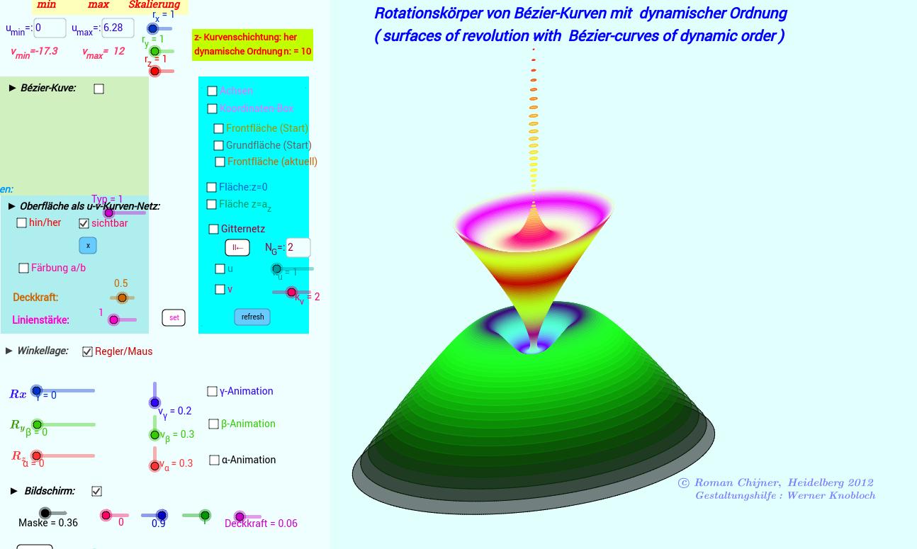 Rotationskörper von Bézier-Kurven dynamischer Ordnung(GG4)