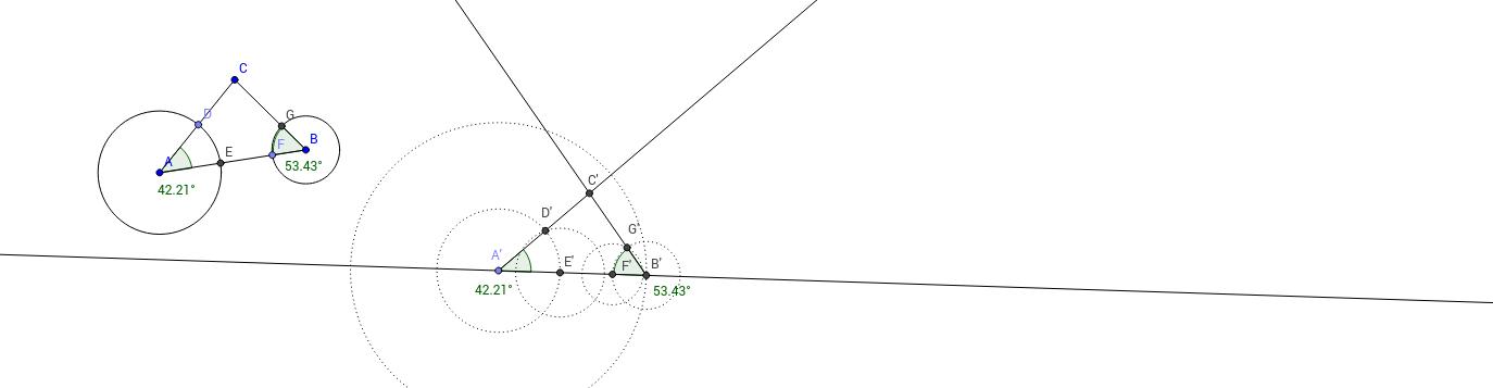 Reconstrucción de un triángulo por el caso ALA