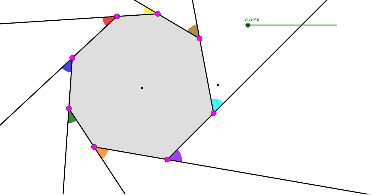 Exterior Angles Of An Octagon Geogebra
