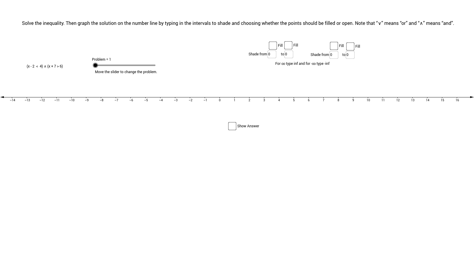 worksheet graphing inequalities on a number line worksheet graphing compound inequalities on number line geogebra view - Graphing Inequalities On A Number Line Worksheet