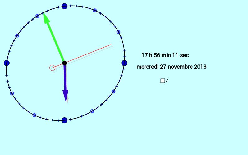 Horloge GeoGebra à partir du fichier de marc Renault