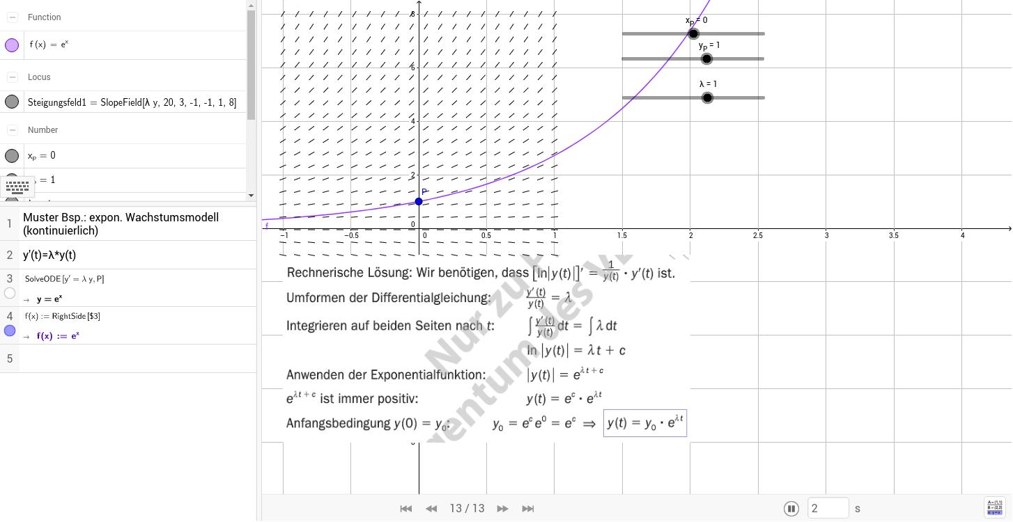Bsp. 498 a kont. exp. Wachstum / tm 8.KL