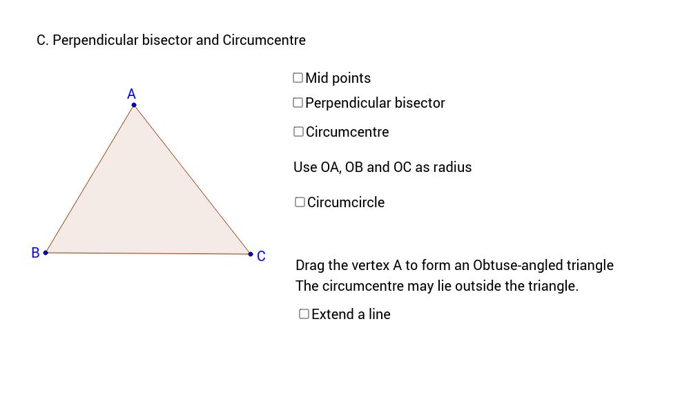 C. Perpendicular bisector