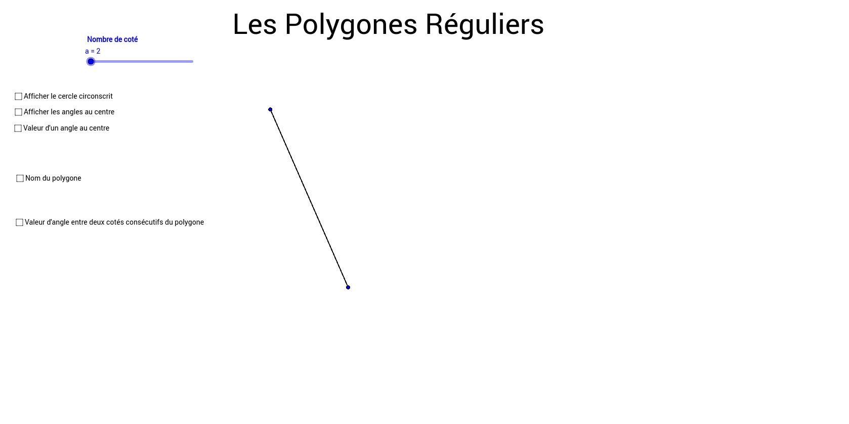 Les Polygones réguliers