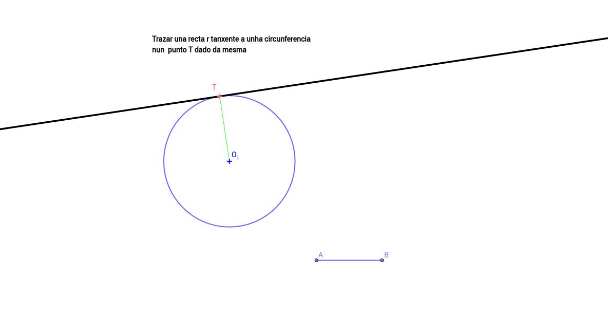 Trazar una recta r tanxente a unha circunferencia nun  punto