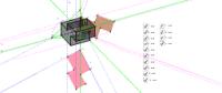 Pravoúhlá axonometrie zářezová střecha-rys+posup