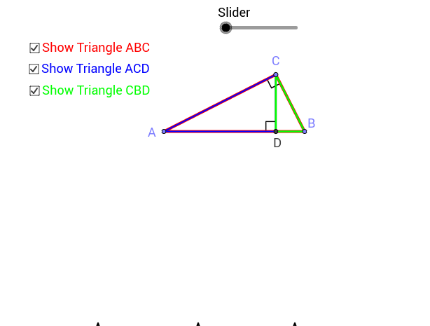 Altitude Forms Similar Triangles Animation