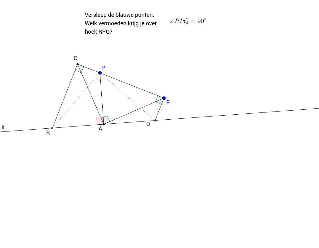 Vermoeden over hoek in complex lijnenveld