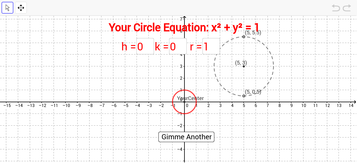 Circles - Equation of a circle - GeoGebraBook
