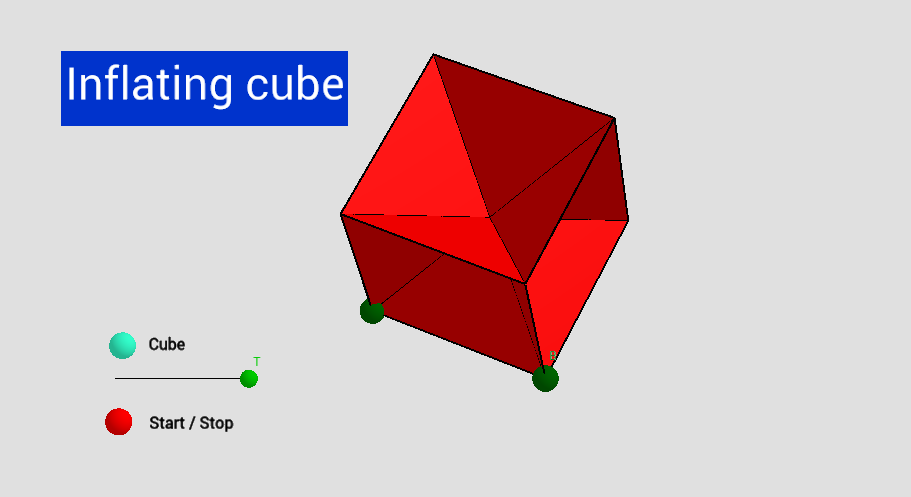 Inflating cube