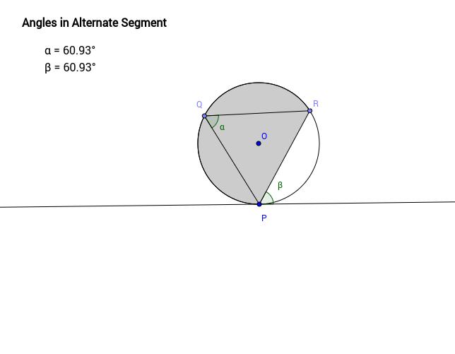 GeoGebra Tutorial - Angles in Alternate Segment