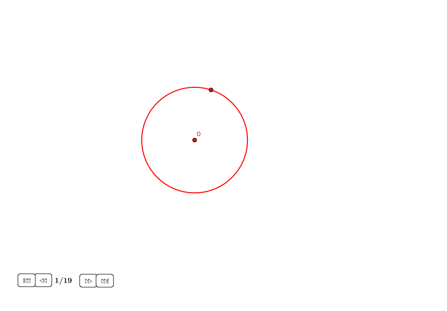 Pentágono regular alrededor de un círculo