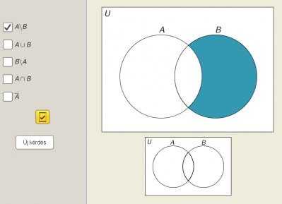 Halmazműveletek Venn-diagram segítségével 1.