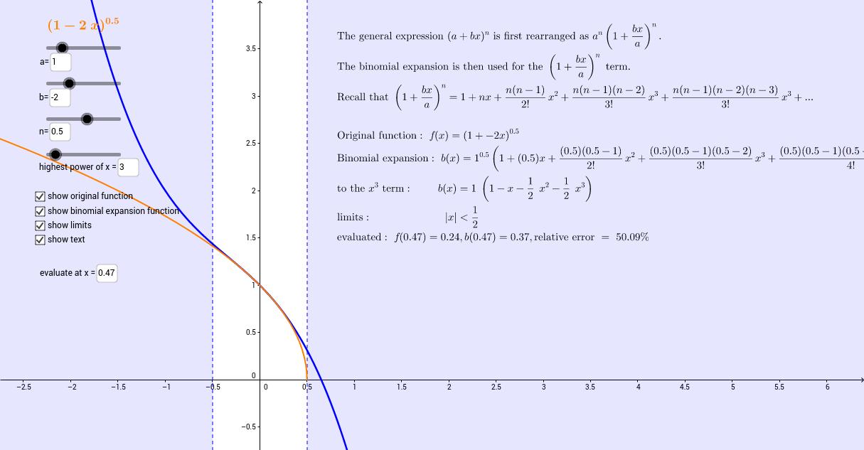 Binomial Series Expansion