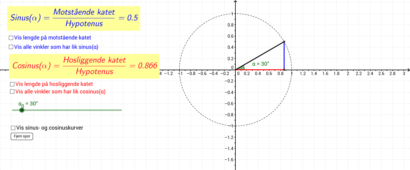 Matematikk 1T Sinus og Cosinus