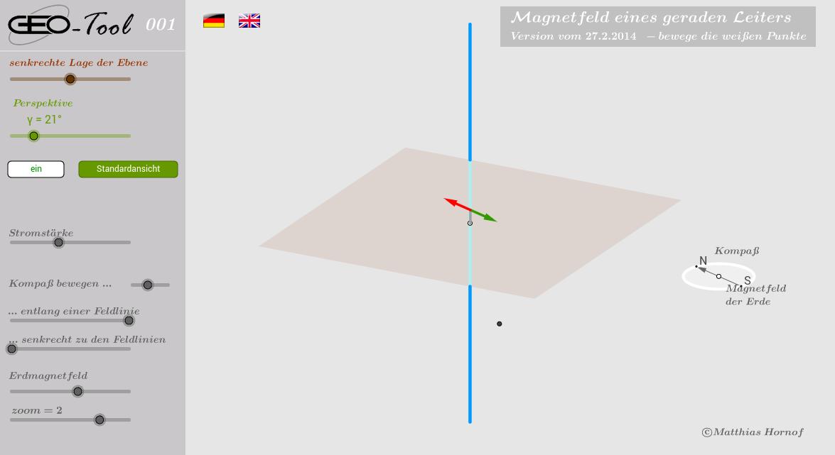 Magnetfeld eines geraden, stromdurchflossenen Leiters 4