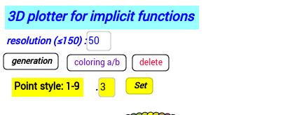 3d- Implicit surface grapher: Ellipsoid
