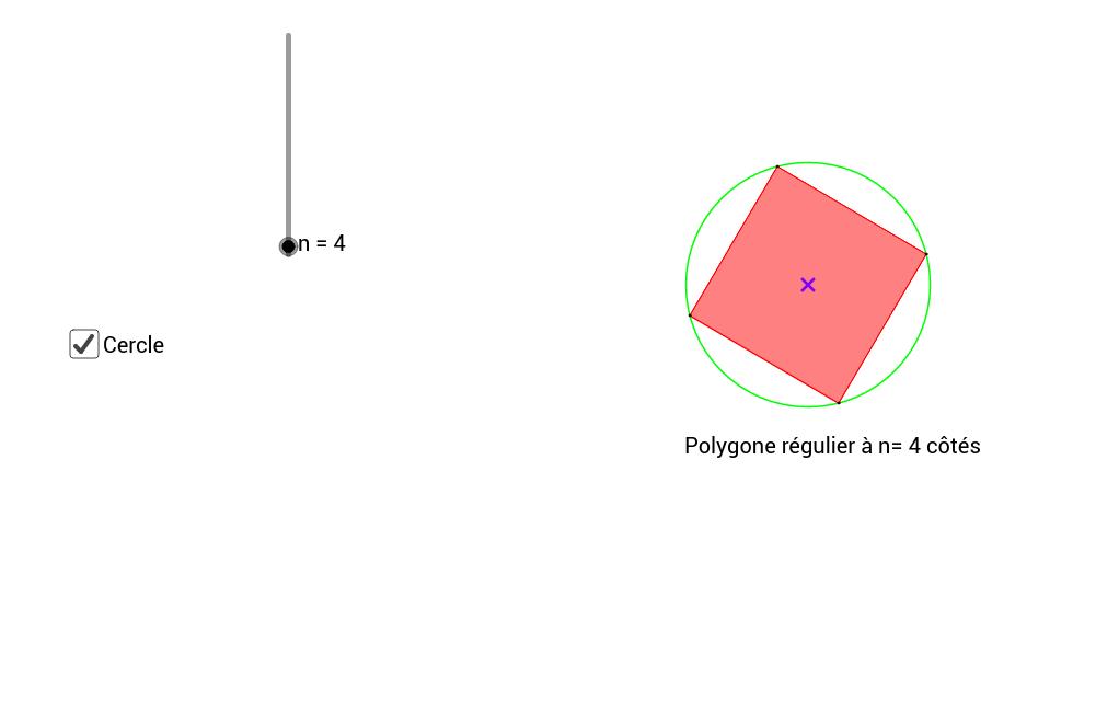 Caractérisation d'un polygone régulier