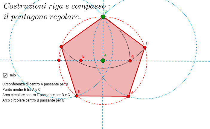 Costruzioni riga e compasso: il pentagono
