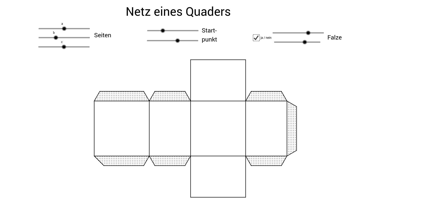 Netz eines Quaders