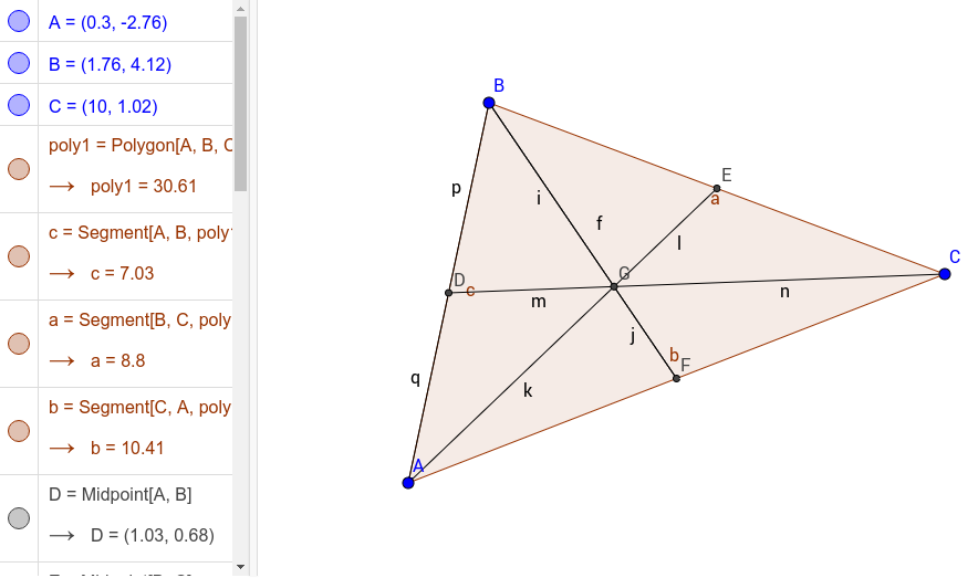 Special Segments and Points of Concurrency in Triangles GeoGebraBook – Special Segments in Triangles Worksheet