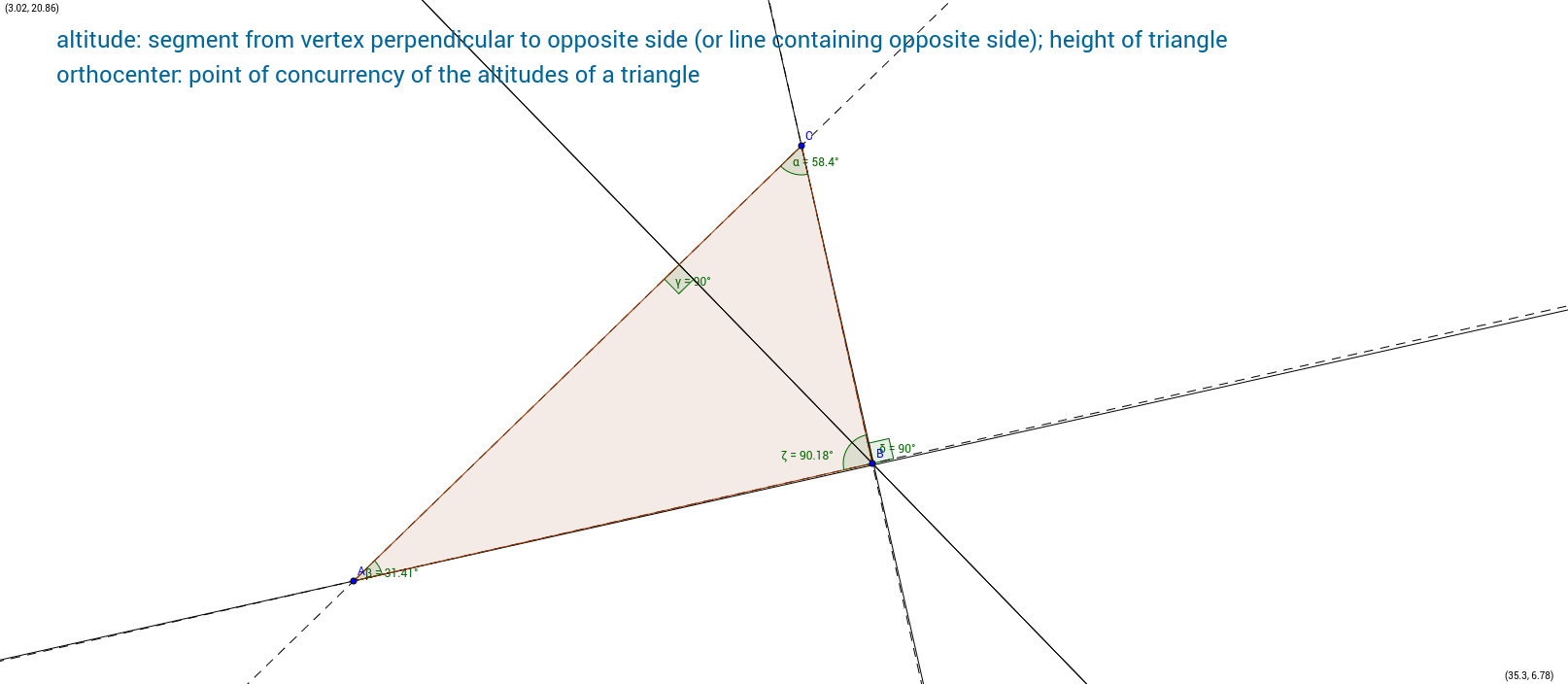 Altitudes and orthocenter