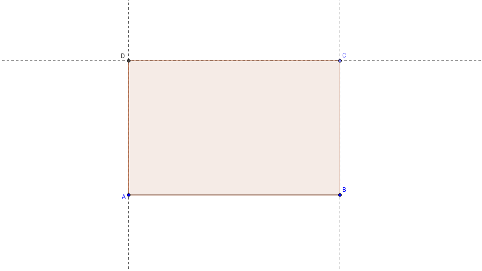 Rectangle Construction in GeoGebra