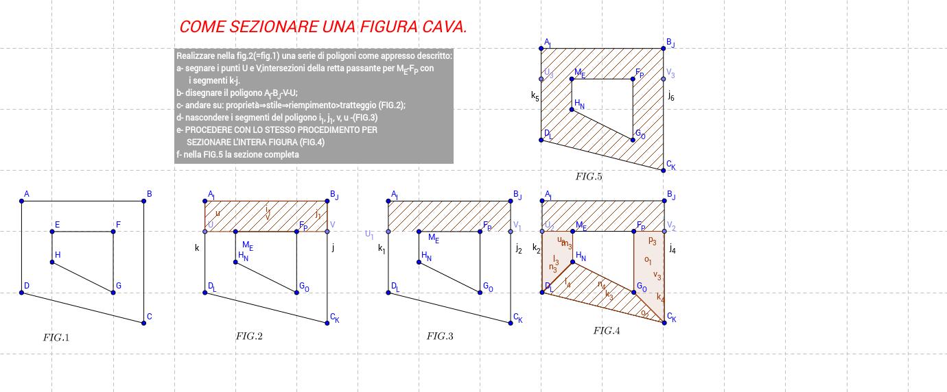 2D -  sezione figura geometrica