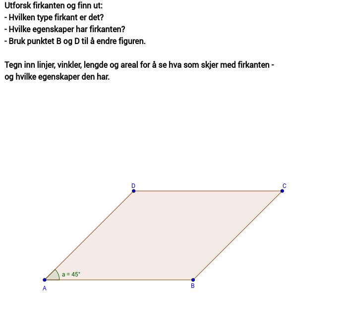 Utforsk parallellogram
