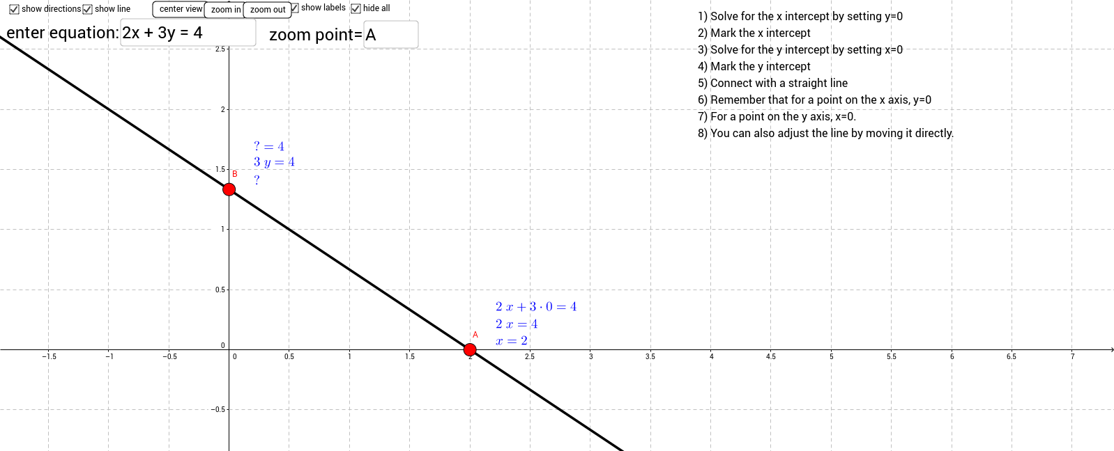 grapphing by x and y intercepts GeoGebra – X and Y Intercept Worksheet