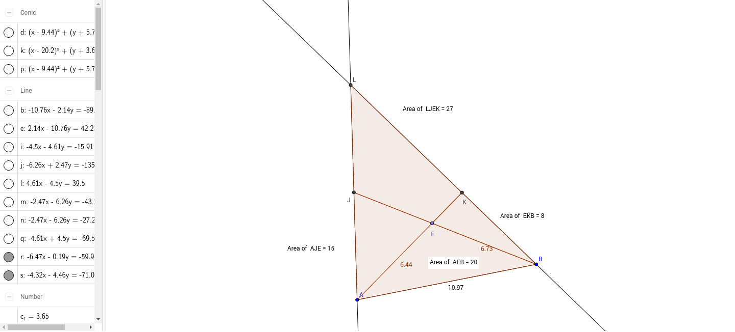worksheet Area Of Quadrilaterals Worksheet five triangles blog 89 area of a quadrilateral geogebra