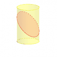 Unwrapping a Cylinder Cut by an Oblique Plane by Tracing