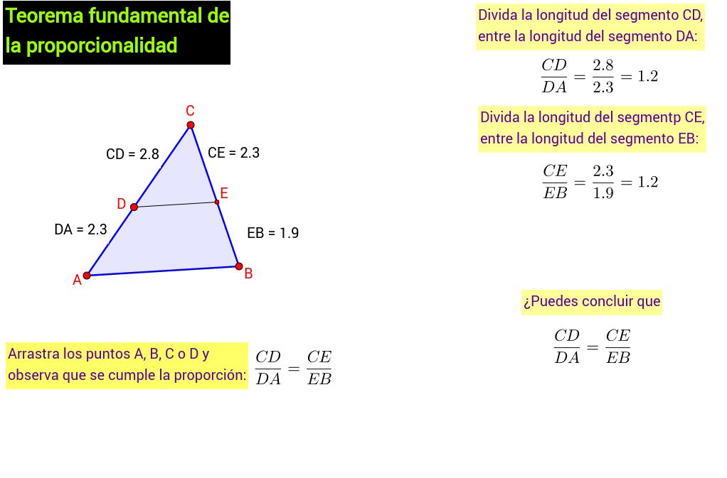 Teorema fundamental de la proporcionalidad