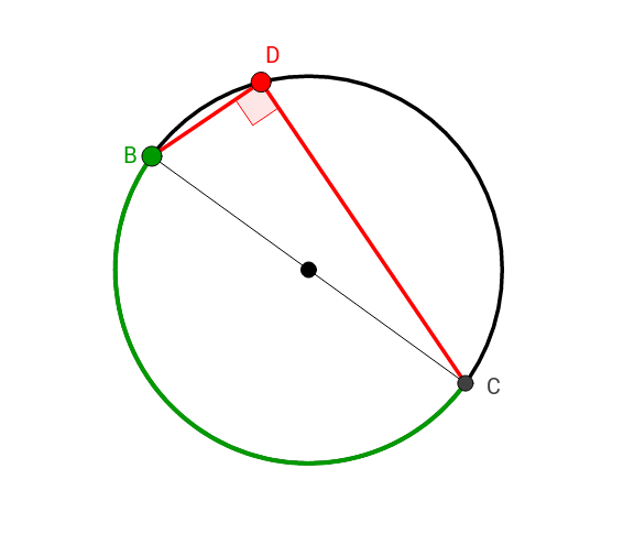 Angle Inscribed in Semicircle